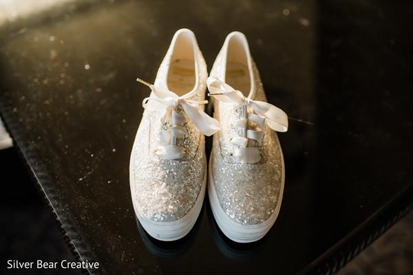 Marvelous Indian bridal tennis shoes.