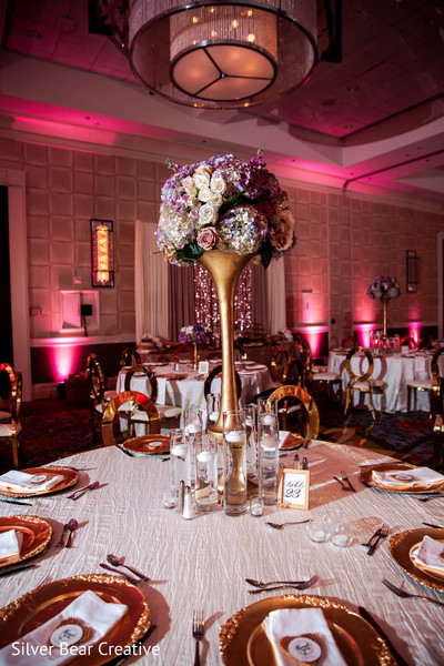 Marvelous Indian wedding table centerpiece candle holders.