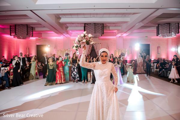 Indian wedding reception tradition.