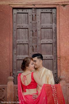 Ravishing Maharani posing with Raja