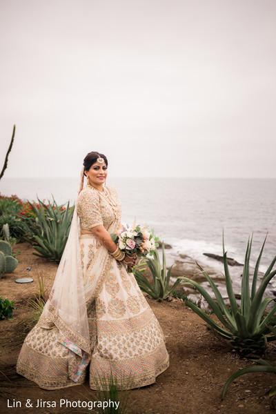 Amazing Indian bride  on her wedding ceremony Lengha.