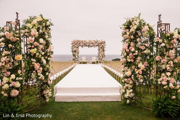 Marvelous outdoors Indian wedding ceremony setup.