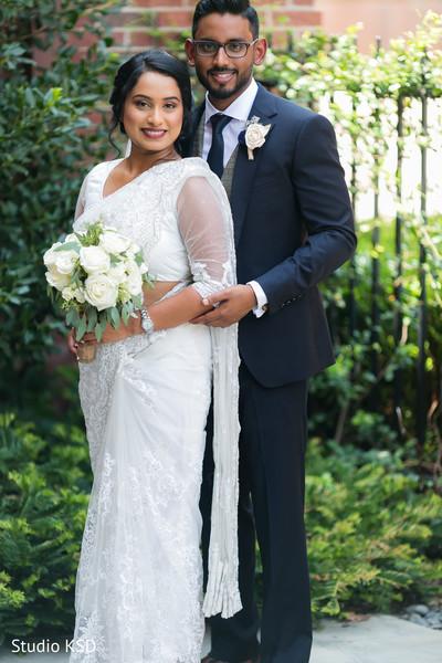 Maharani holding the bouquet with Raja