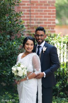 Charming Indian couple's portrait