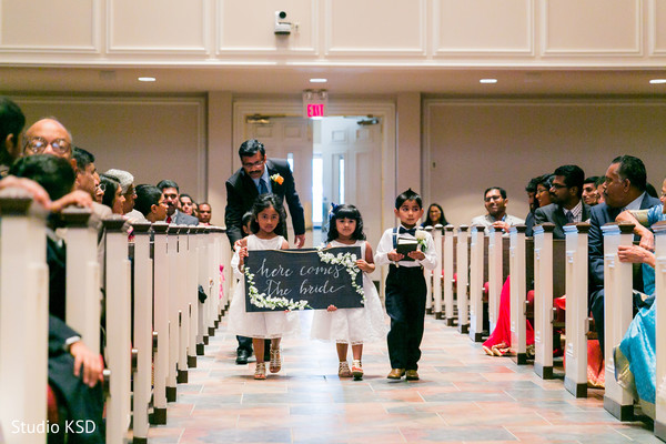 Lovely kid guests making their entrance