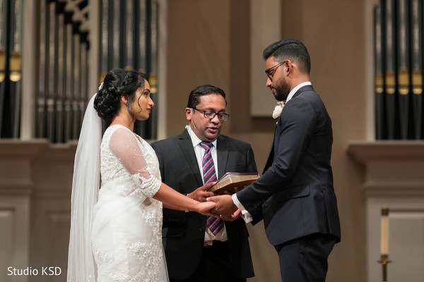 Amazing moment of couple during vows