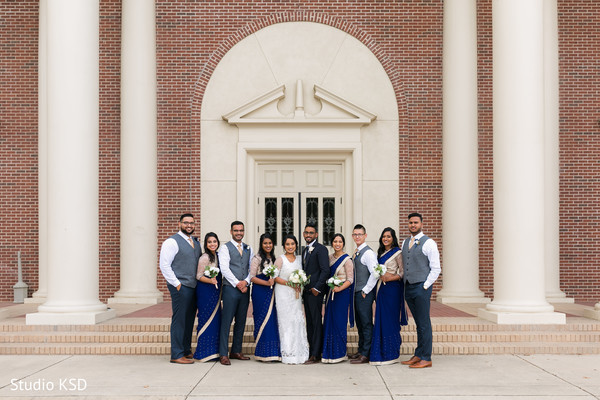 See this lovely capture of groomsmen and bridesmaids at the venue