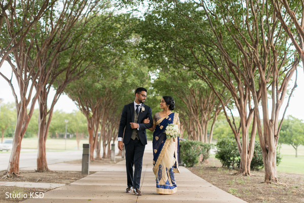 Elegant Indian couple posing for photo shoot
