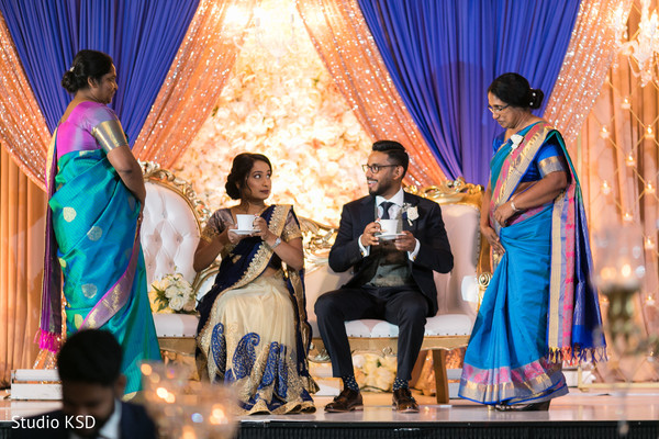Indian couple with special guests