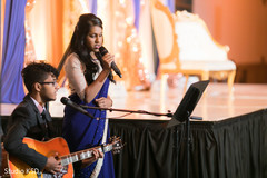 Artists performing during the reception