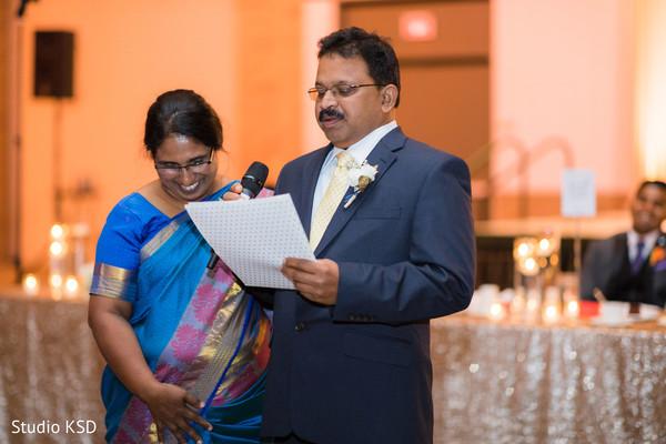 Parents giving a heartfelt speech