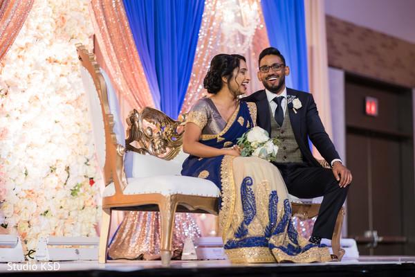 Indian couple having a laugh