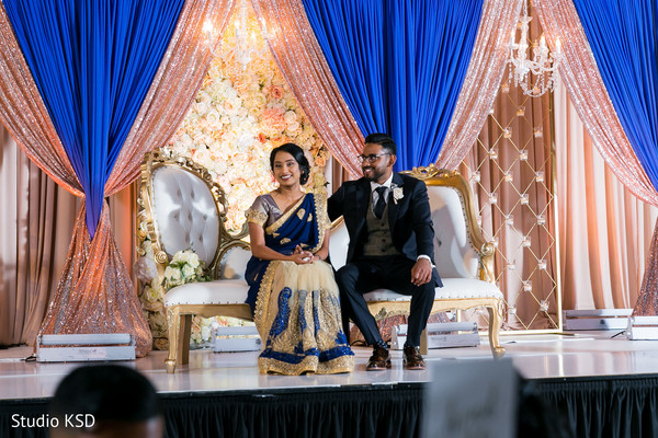 Indian newlyweds onstage