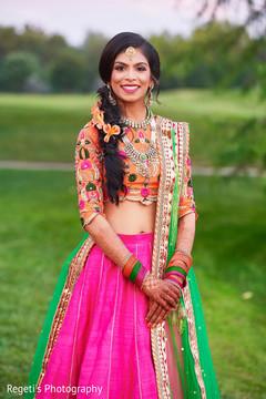 Beautiful Indian bride's portrait.