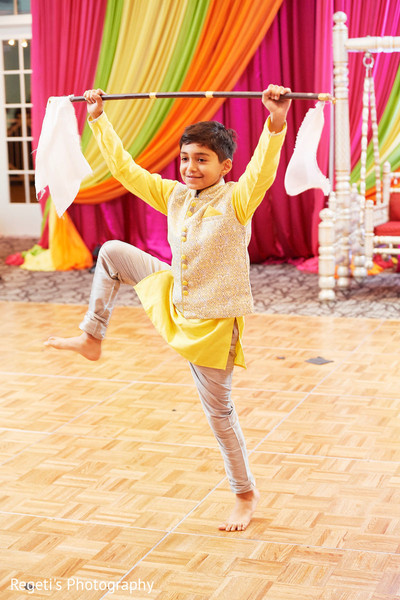 Lovely kid guest during the sangeet