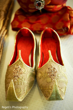 Detail of traditional shoes used by Raja