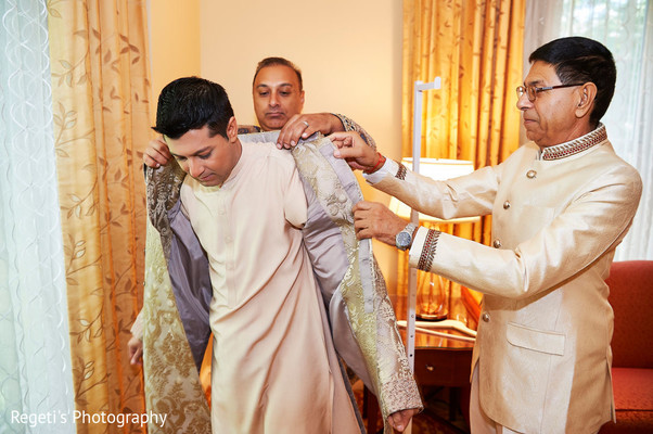 "Indian groom getting ready to say ""I do"""