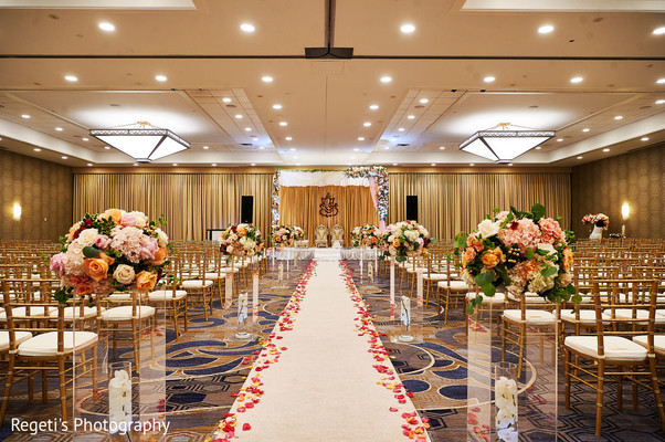 Overview of the beautiful ceremony venue