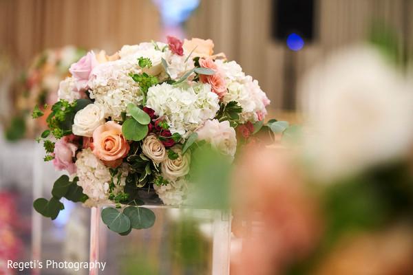 Floral arrangement details of the Indian wedding