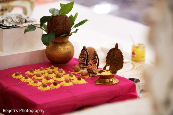 Special objects to be used at the Indian wedding ceremony