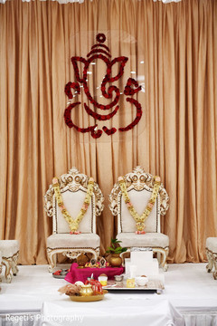 Chairs to be used by Indian newlyweds