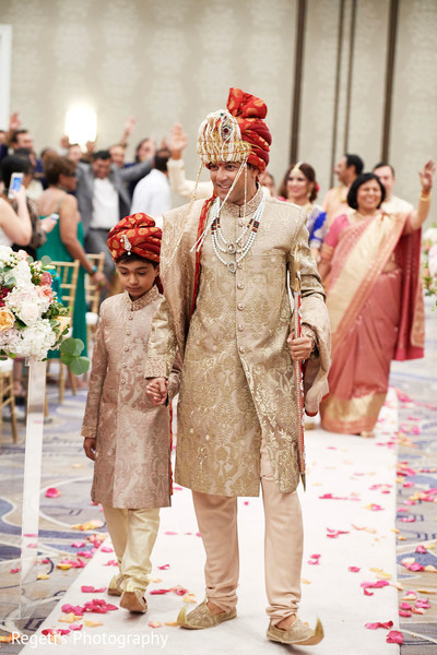 Indian groom making his grand entrance