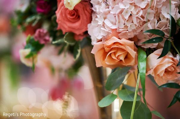 Floral arrangement details of the ceremony