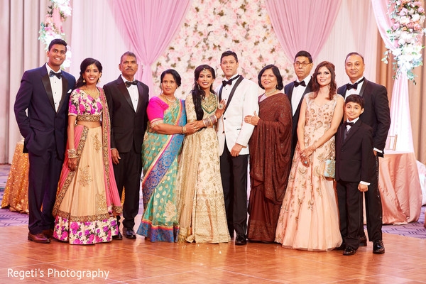 Lovely family picture at the reception