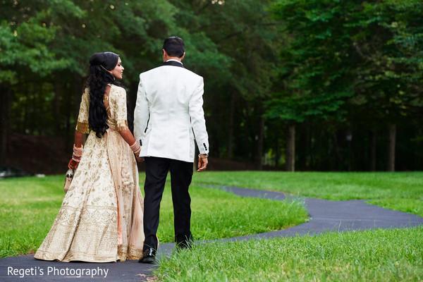 Maharani holding hands with Raja