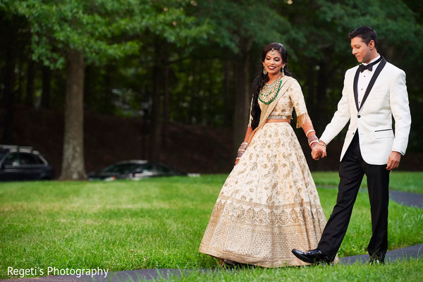 Maharani and Raja outdoors for pictures