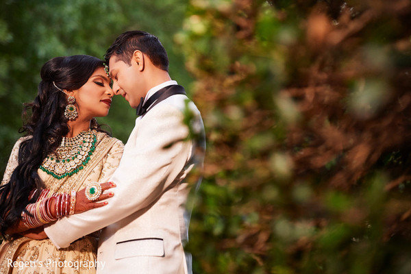 Indian bride and Raja during the photo session