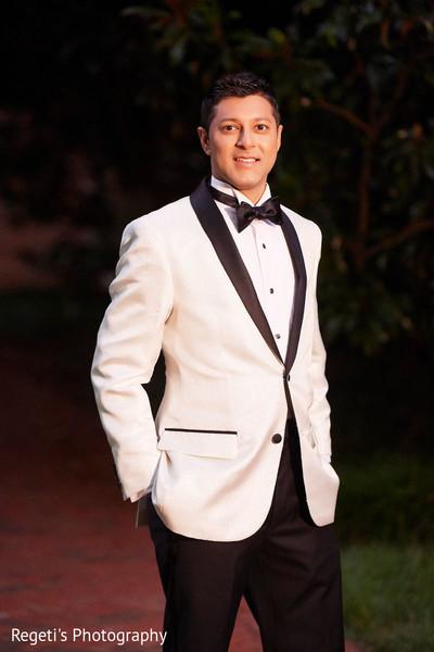 Portrait of elegant groom before the ceremony