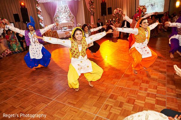 Dancers performing at the reception