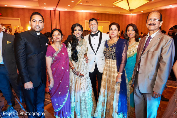 Indian special guests with newlyweds