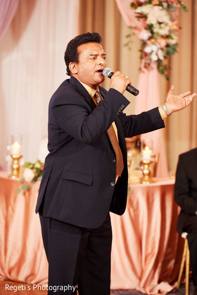 Singer during the reception
