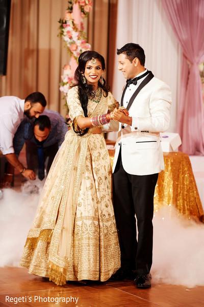 Stunning Maharani dancing with Indian groom