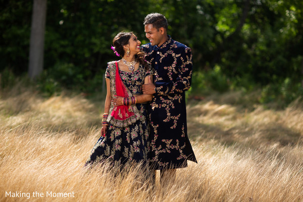 Tender moment between the Indian couple