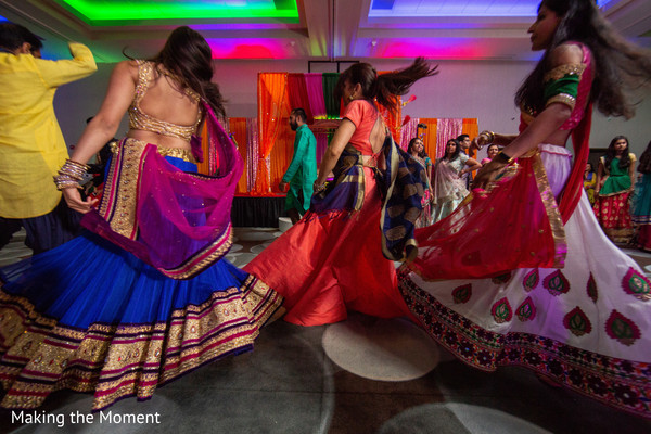 Beautiful dancers during the sangeet