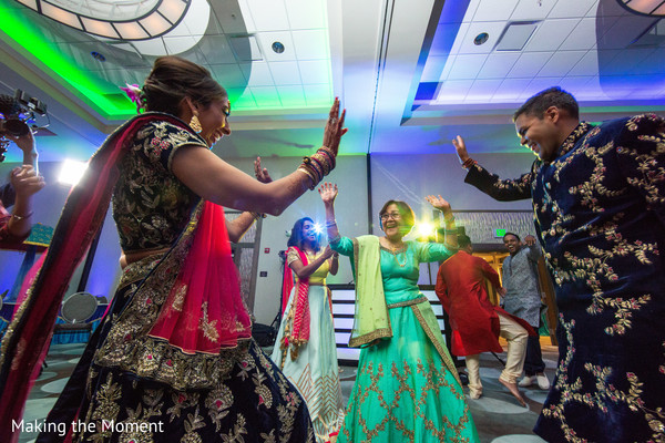 Indian couple having a great time dancing