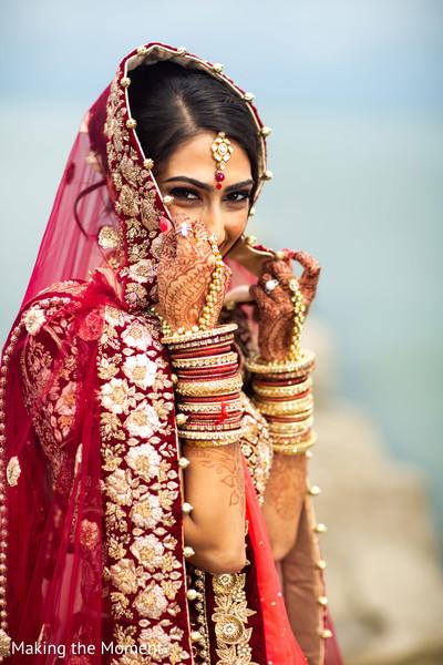 Incredible capture of Maharani wearing the bridal lengha
