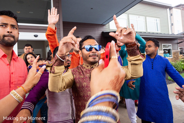 Indian wedding guests having a great time