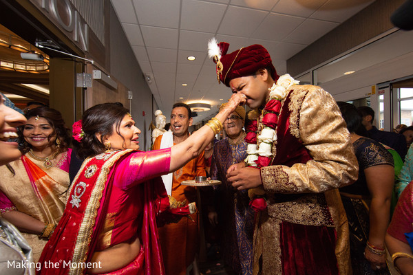 Indian groom during the pre wedding rituals