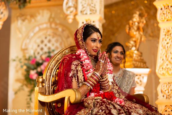 Beautiful Maharani during the ceremony