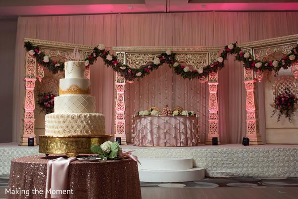 Amazing capture of the wedding cake and decor