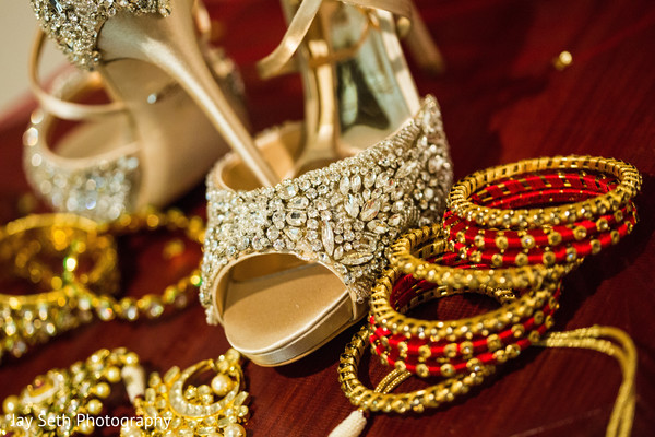 Marvelous Indian bridal shoes and jewelry.