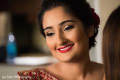 Flawless Indian bridal makeup.