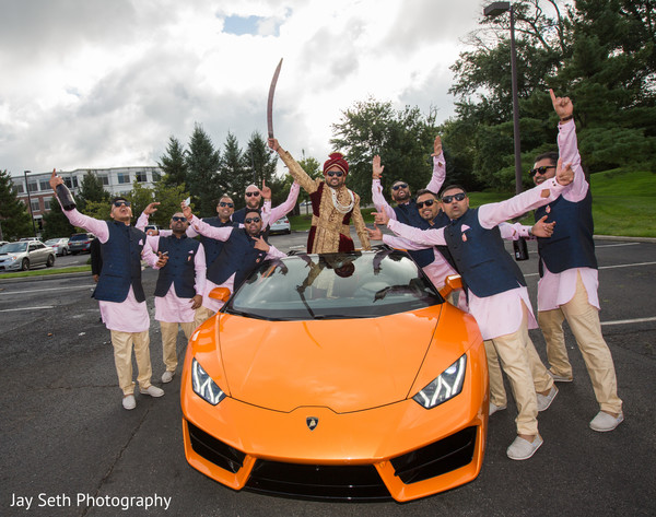 Sensational indian baraat pre-wedding procession.