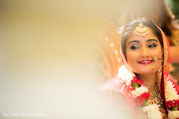 Dreamy Indian bridal portrait.