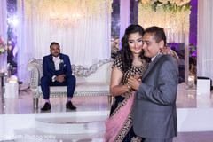Sweet Indian bridal dance with parent.