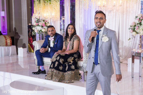 Sweet Indian groomsmen reception speech.